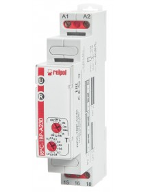 RPC-1BP-A230 - Single time relay, 16 A, 1 CO, 230VAC 8 time ranges