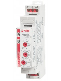 RPC-1AS-A230 - Time relay, 16 A, 1 NO contact, 230VAC for staircase lighting 5 time functions
